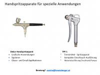 Handspritzapparate für spezielle Anwendungen