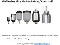 Fließbecher/Saugbecher/Druckbecher
