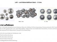 Materialdüsen Luftdüsen Basic - und X Line