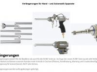 Verlängerungen für Hand- und Automatik Spritzapparate