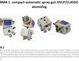 RMA  1 compact spray gun HVLP or CLASSIC s atomizing